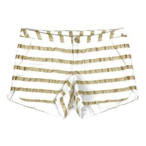 "Lilly Pulitzer 4"" Adie Short Gold Stripes"